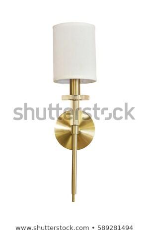 Elegante parede lâmpada vintage projeto janela Foto stock © IvicaNS