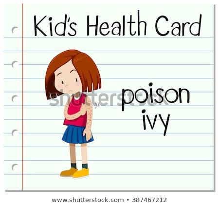Gezondheid kaart meisje gif klimop illustratie Stockfoto © bluering
