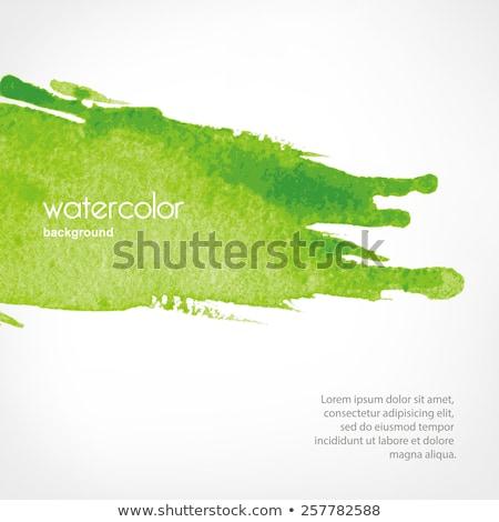 Grünen abstrakten Wasserfarbe Kunstwerk Banner isoliert Stock foto © Taiga