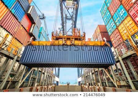 Kraan vracht dok wereld technologie industriële Stockfoto © papa1266
