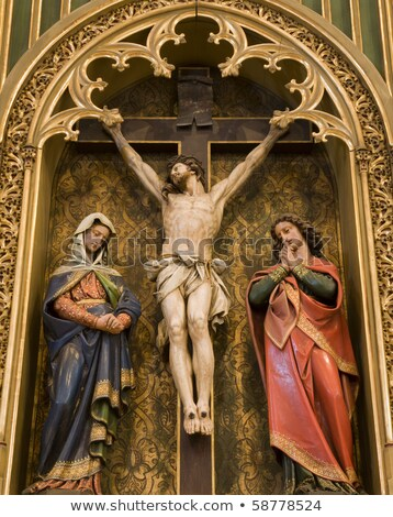 Christ on the cross and hl. John and hl. Mary Stock photo © lightpoet