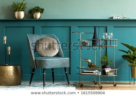 Foto stock: Poltrona · luxo · projeto · amarelo · interior
