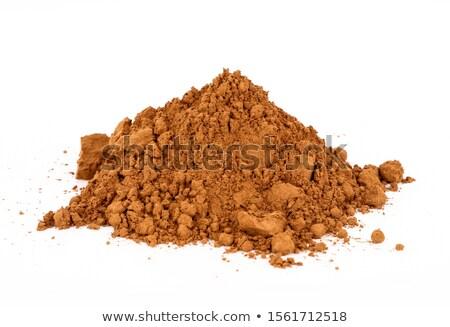 Föld fahéj halom tál étel szalvéta Stock fotó © Digifoodstock