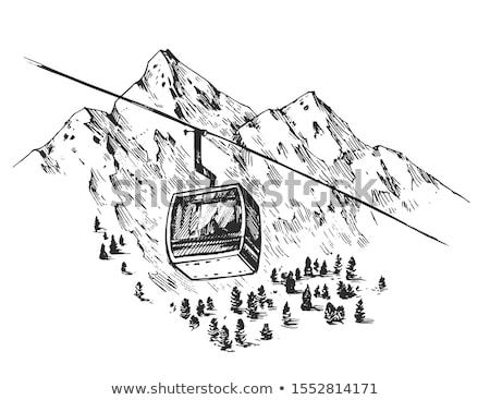 человека · лыжах · только · снега · горные · льда - Сток-фото © zurijeta