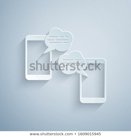 SMS Notification Icon. Grey Button Design. Stock photo © WaD