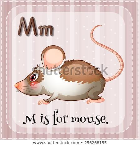 Mektup m fare örnek arka plan sanat eğitim Stok fotoğraf © bluering