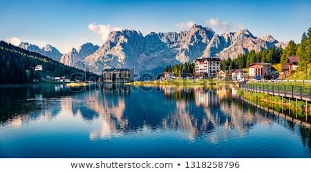 Tó Alpok tájkép vad természet víz Stock fotó © OleksandrO