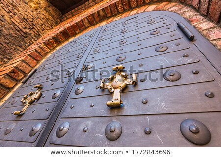 Details of old metal door at medieval fortress Akershus  in Oslo Stock photo © vladacanon
