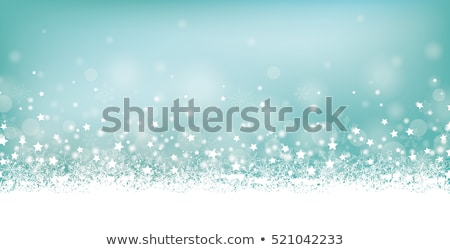 Cyan Christmas Card Header Snowflakes Stock photo © limbi007