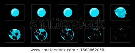 láva · víz · buborékok · hátterek · réteges · illusztráció - stock fotó © DzoniBeCool