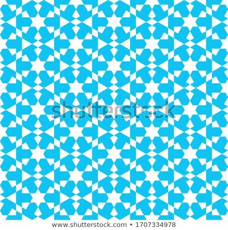 カラフル モザイク デザイン モスク 白 シルエット ストックフォト © kkunz2010