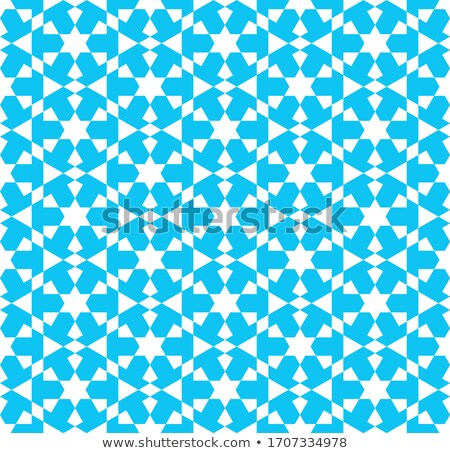colorful mosaic design   mosque white silhouette blue color stock photo © kkunz2010