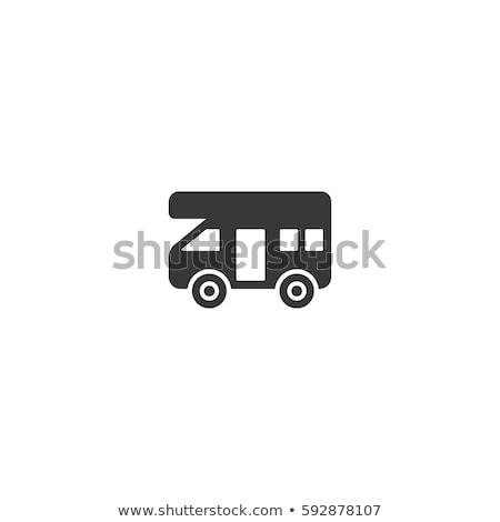 障害者 · ヴァン · 駐車場 · にログイン · 青 · 白 - ストックフォト © joyr