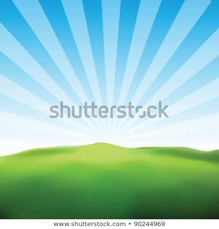 Abstract field and sun rays background stock photo © day908