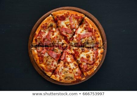 Six slices of mushroom Stock photo © bluering