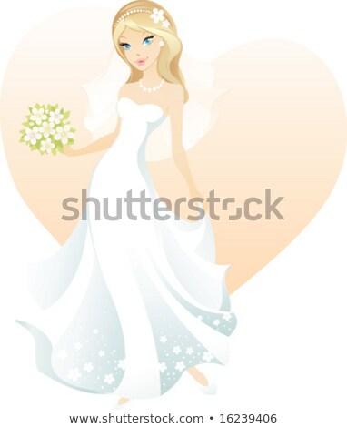 Oblubienicy zasłona bukiet odizolowany biały Zdjęcia stock © maia3000
