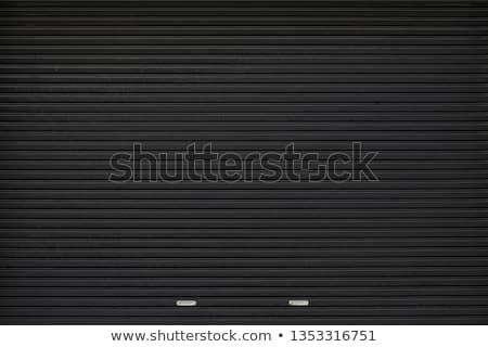 Redőny fém ajtó textúra piros fémes Stock fotó © stevanovicigor