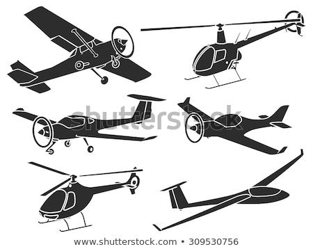 Pequeno esportes avião aeroporto vermelho retro Foto stock © artfotodima