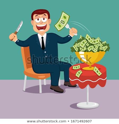 Pénz éhes kapzsiság pénzügyi tanács kapzsi száj Stock fotó © Lightsource