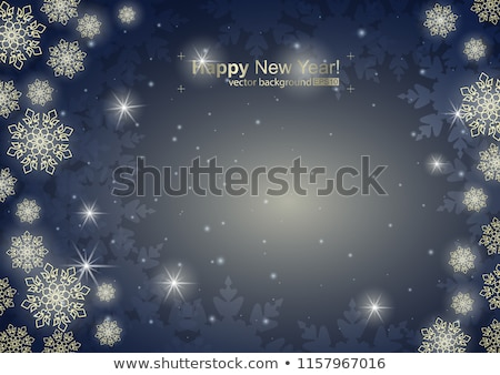 Christmas frame with small blue snowflakes Stock photo © SwillSkill