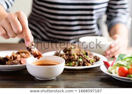 焼き 野菜 ディップ ソース 食品 ニンジン ストックフォト © M-studio