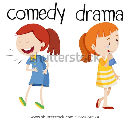 Opposite words for comedy and drama Stock photo © bluering