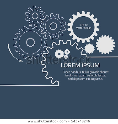 Vector Infographic report template with gear wheels Stock photo © orson