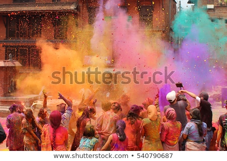 At the Holi Festival Stock photo © Nobilior