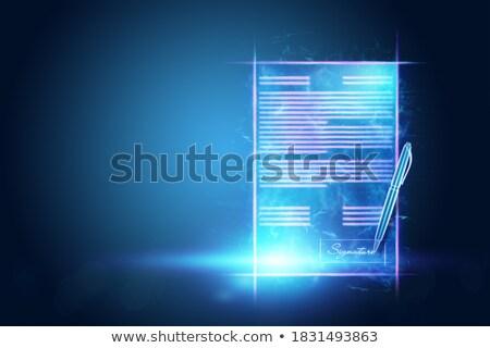 Business Security Concept on Laptop Screen. 3D Illustration. Stock photo © tashatuvango