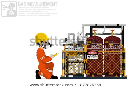 Worker examining storage tank Stock photo © wavebreak_media