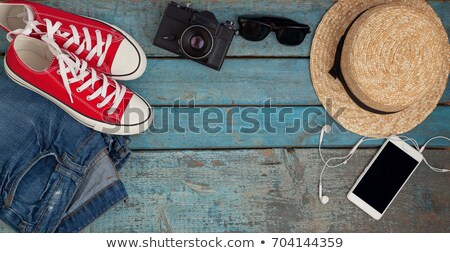 Still life of various items for recreation, clothing, hat, sneak Stock photo © TanaCh