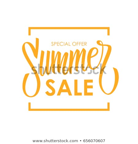 Summer Sale Handwritten Calligraphy Stock photo © Anna_leni