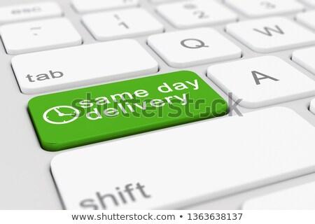 green express delivery keypad on keyboard 3d illustration stock photo © tashatuvango