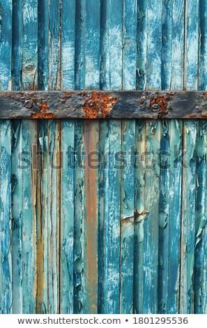 velho · enferrujado · superfície · metálica · amarelo · parede · abstrato - foto stock © stevanovicigor