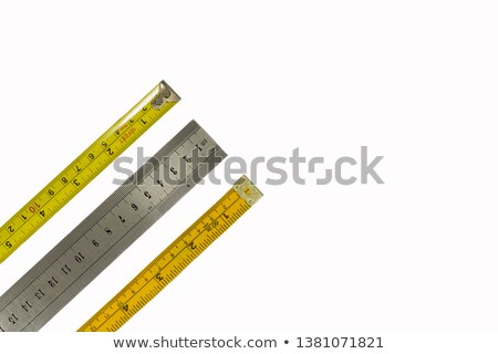 Three measuring tapes of different colors Stock photo © digitalr