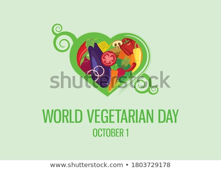 1 october World Vegetarian Day Stock photo © Olena