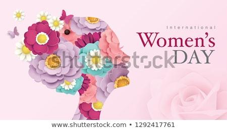 Tarjeta de felicitación día de la mujer madres día resumen madre Foto stock © Olena