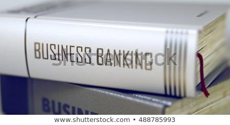 Kitap başlık omurga iş bankacılık 3D Stok fotoğraf © tashatuvango