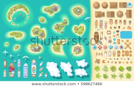 genç · kız · plaj · üst · görmek · yaz · tatili · parti - stok fotoğraf © sonya_illustrations