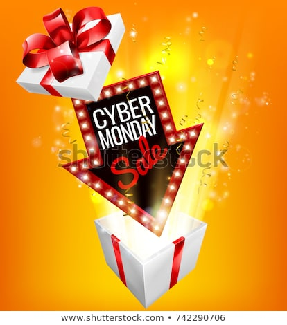Cyber Monday Sale Exciting Gift Sign Stock photo © Krisdog