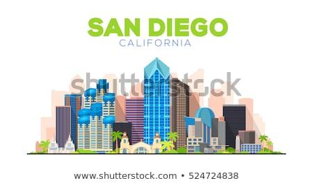 Linha San Diego bandeira cidade estilo Foto stock © Yuriy