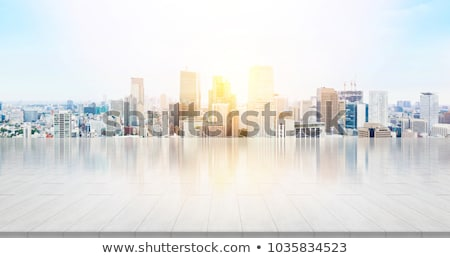 office building on a background of the blue sky stock photo © janpietruszka