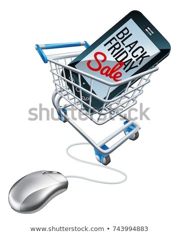 black friday sale mobile phone trolley sign stock photo © krisdog