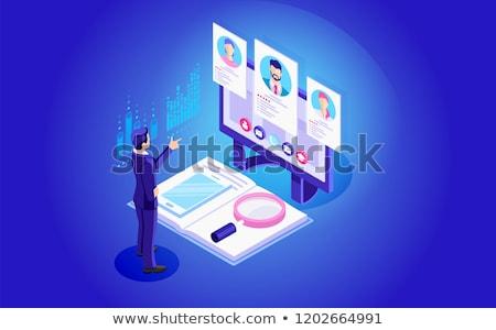 ontwikkelaar · krant · advertentie · wazig · afbeelding - stockfoto © tashatuvango