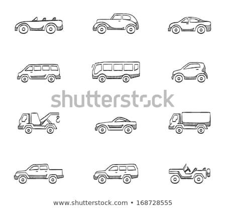 Car towing truck sketch icon. Stock photo © RAStudio