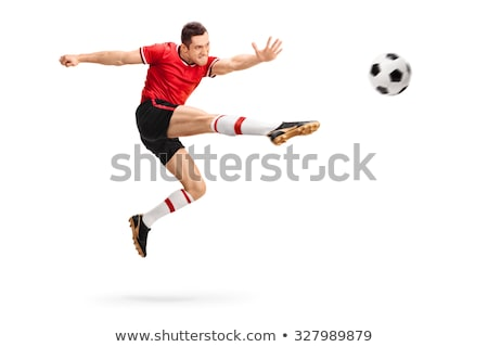 Footballeur équilibrage balle homme football amusement Photo stock © IS2