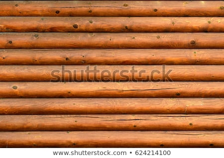 Wooden logs wall of old rural house  Stock photo © Valeriy