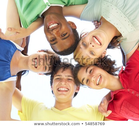 Multi cultural Teenagers in a park Stock photo © IS2