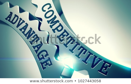 Competitive Advantage - Mechanism of Shiny Metal Cog Gears. 3D. Stock photo © tashatuvango