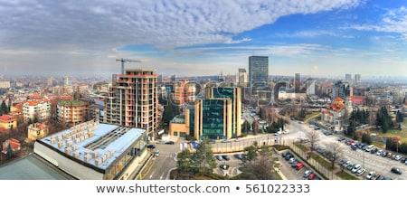 Szófia Bulgária tetők függőleges kilátás belváros Stock fotó © vilevi